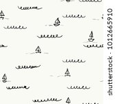 seamless pattern with  ships | Shutterstock .eps vector #1012665910