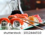 sushi  a portion of... | Shutterstock . vector #1012666510