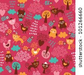 seamless pattern with cute... | Shutterstock .eps vector #101266660