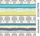 template of seamless pattern... | Shutterstock .eps vector #1012667998