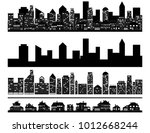 urban cityscape and suburb with ... | Shutterstock .eps vector #1012668244