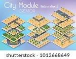 city module creator isometric... | Shutterstock .eps vector #1012668649