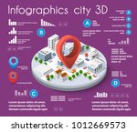 city isometric colorful 3d... | Shutterstock .eps vector #1012669573