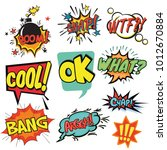 comics colorful sticker | Shutterstock .eps vector #1012670884