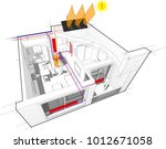 3d illustration of diagram of... | Shutterstock . vector #1012671058