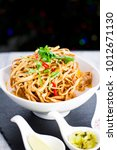 kao soi or thai curry noodles... | Shutterstock . vector #1012671130