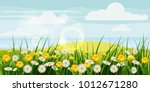 spring beautiful scenery ... | Shutterstock .eps vector #1012671280