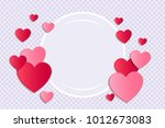 background with paper cut... | Shutterstock .eps vector #1012673083