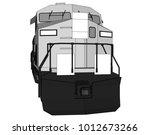 modern diesel railway...   Shutterstock .eps vector #1012673266