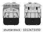 modern diesel railway...   Shutterstock .eps vector #1012673350