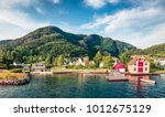 picturesque summer view of... | Shutterstock . vector #1012675129