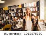 portrait view of adorable happy ... | Shutterstock . vector #1012675330