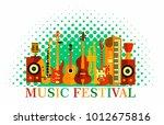 colorful music festival... | Shutterstock .eps vector #1012675816