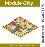 isometric view of a farm town... | Shutterstock .eps vector #1012675870