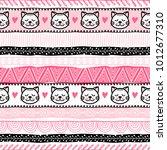 template of seamless pattern... | Shutterstock .eps vector #1012677310