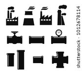 pipe fittings vector icons set. ... | Shutterstock .eps vector #1012678114