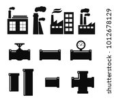 pipe fittings vector icons set. ... | Shutterstock .eps vector #1012678129