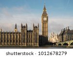 Palace of Westminster in London,  the meeting place of the House of Commons and the House of Lords, the two houses of the Parliament of the United Kingdom. It has the famous Big Ben tower.