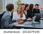 two professional business... | Shutterstock . vector #1012679140