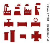 pipe fittings vector icons set. ... | Shutterstock .eps vector #1012679464