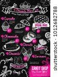 sweet desserts menu template on ... | Shutterstock .eps vector #1012682788
