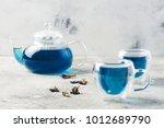 butterfly pea flower blue tea.... | Shutterstock . vector #1012689790