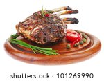 grilled ribs with vegetables on ... | Shutterstock . vector #101269990