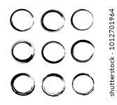 abstract black hand drawn brush ... | Shutterstock .eps vector #1012701964