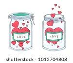 romantic  valentine's day  love ... | Shutterstock .eps vector #1012704808