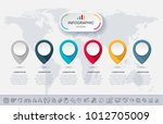 business infographic template... | Shutterstock .eps vector #1012705009