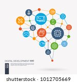 ai creative think system... | Shutterstock .eps vector #1012705669