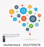 ai creative think system... | Shutterstock .eps vector #1012705678