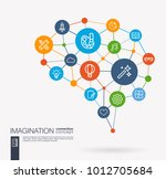ai creative think system... | Shutterstock .eps vector #1012705684
