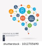 ai creative think system... | Shutterstock .eps vector #1012705690