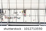 reflection glass of top view... | Shutterstock . vector #1012713550