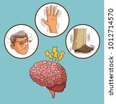 parkinsons disease cartoon | Shutterstock .eps vector #1012714570