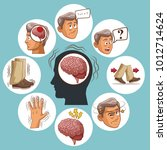 parkinsons disease cartoon | Shutterstock .eps vector #1012714624