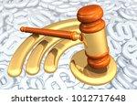 legal net neutrality concept 3d ... | Shutterstock . vector #1012717648