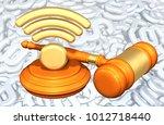 legal net neutrality concept 3d ... | Shutterstock . vector #1012718440