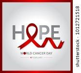 4 february world cancer day... | Shutterstock .eps vector #1012721518