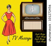 1950's style retro background...   Shutterstock .eps vector #101272456