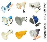 megaphone loud speaker icons...