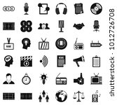 multimedia means icons set.... | Shutterstock .eps vector #1012726708