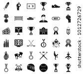 big award icons set. simple set ... | Shutterstock .eps vector #1012726729