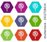 no u turn road sign icon set... | Shutterstock .eps vector #1012728214