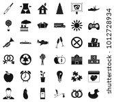 maternity leave icons set.... | Shutterstock .eps vector #1012728934