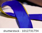 down syndrome awareness ribbon... | Shutterstock . vector #1012731754