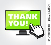 thank you words display on high ... | Shutterstock .eps vector #1012732504