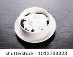 black sticky rice pudding  thai ... | Shutterstock . vector #1012733323