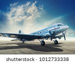 historical aircraft on an... | Shutterstock . vector #1012733338